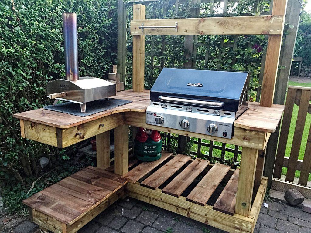 Bbq cooking station about bbg grill shack all year for Outdoor cooking station plans