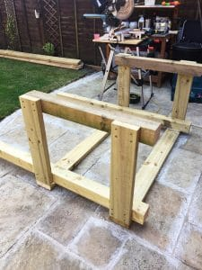BBQ Grill Shack - Main Frame Construction Process