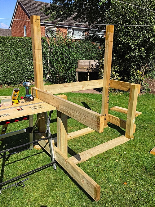 BBQ Grill Shack frame construction
